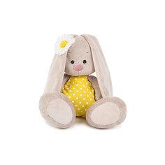 Мягкая игрушка Budi Basa Зайка Ми в жёлтом комбинезоне и с ромашкой, 18 см