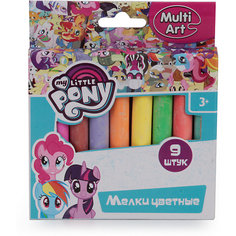 "Мел для асфальта MultiArt ""My Little Pony"", 9 цветов"