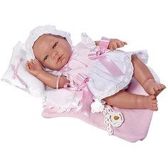"""Кукла-реборн Asi """"Мария"""" в платье и чепчике, 45 см"""