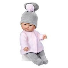 "Кукла Asi ""Пупсик"" в серо-розовом костюме, 20 см"