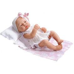"""Кукла-реборн Asi """"Лючия"""" в белом костюмчике, 40 см"""