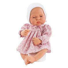 """Кукла-реборн Asi """"Лючия"""" в розовом платье, 40 см"""