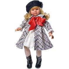 """Классическая кукла Asi """"Пепа"""" в клетчатом пальто, 60 см"""