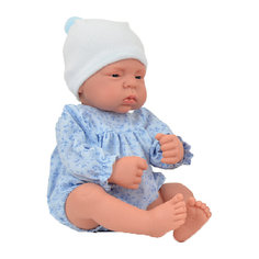"Кукла-реборн Asi ""Лукас"" в голубом боди, 40 см"