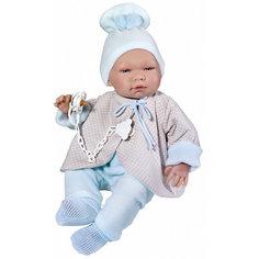 """Кукла-реборн Asi """"Пабло"""" в голубом костюмчике, 43 см"""