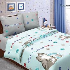 Детское постельное белье 1,5 сп Letto, Коржик, голубой