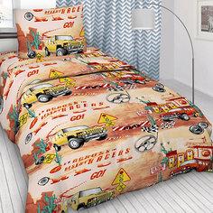 Детское постельное белье 1,5 сп Letto, Race,красный