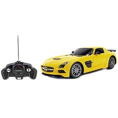 """Радиоуправляемая машинка Rastar """"Mercedes-Benz SLS AMG"""", 1:18, желтая"""