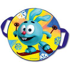 "Санки-ледянки № 04 ""Крош на лыжах"", диаметр 45 см"