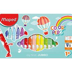 Фломастеры макси Maped «Color peps jumbo», 18 цветов