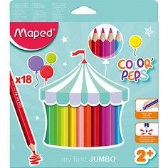 Карандаши цветные Maped «Color peps Jumdo», 18 цветов