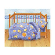 Детское постельное белье 3 предмета Кошки-мышки, Космостар