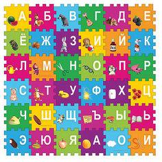 """Коврик-пазл Играем вместе Маша и Медведь """"Азбука"""", 36 элементов"""