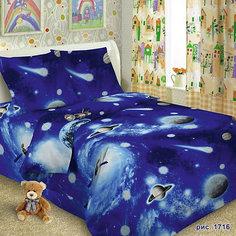 Детское постельное белье 1,5 сп. Letto,Космос