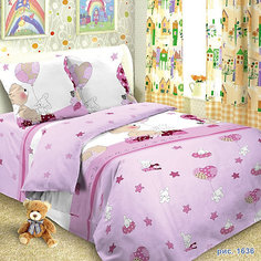 Детское постельное белье 3 предмета Letto, простыня на резинке, BGR-37