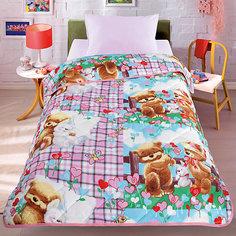 Покрывало-одеяло Мишки и зайка 140*200, стеганное, Letto