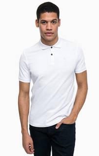Базовая хлопковая футболка поло Lerros