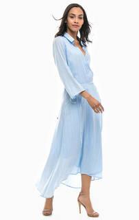 Платье средней длины с запахом Gant