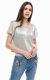 Блуза с кружевной вставкой по низу Gas