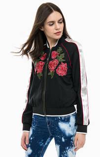 Легкая куртка бомбер с цветочной вышивкой Gas