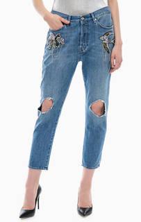 Рваные джинсы зауженного кроя Gas