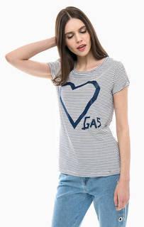 Хлопковая футболка в полоску Gas