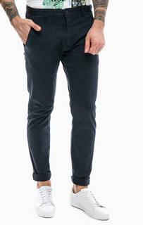 Хлопковые брюки темно-синего цвета Gaudi