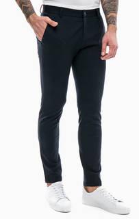 Трикотажные брюки темно-синего цвета Gaudi