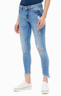 Рваные укороченные джинсы с низкой посадкой Tom Tailor Denim