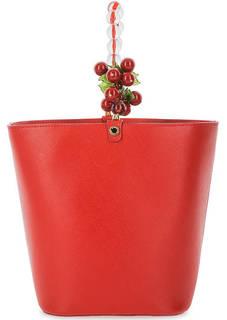 Кожаная сумка с декором Roberta Gandolfi