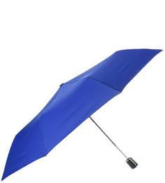 Складной зонт с куполом синего цвета Doppler