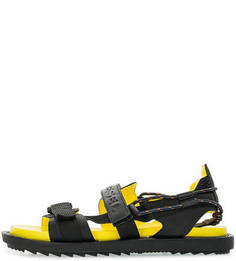 Черные сандалии с яркой стелькой Diesel