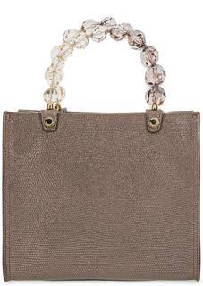 Кожаная сумка с выделкой под рептилию Roberta Gandolfi