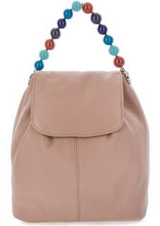Кожаный рюкзак с оригинальной ручкой Roberta Gandolfi