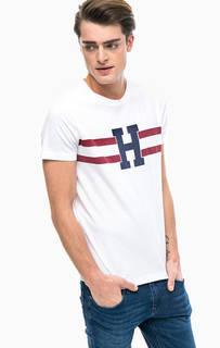 Хлопковая футболка с короткими рукавами Tommy Hilfiger