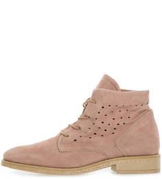Розовые ботинки из замши Mjus