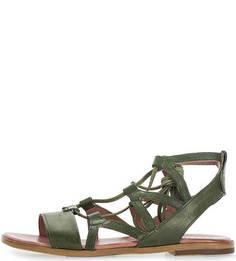 Кожаные сандалии цвета хаки Mjus