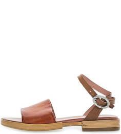 Кожаные сандалии коричневого цвета Mjus