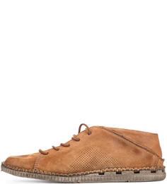 Замшевые ботинки коричневого цвета A.S.98