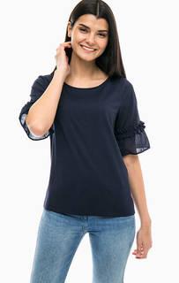 Однотонная футболка с короткими рукавами S.Oliver