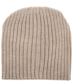 Бежевая шерстяная шапка с ремешком Noryalli