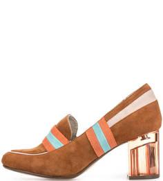 Замшевые туфли с круглым носом Tamaris