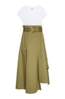 Комбинированное платье из хлопка 3.1 Phillip Lim