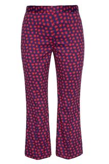 Хлопковые брюки с цветами Alice + Olivia