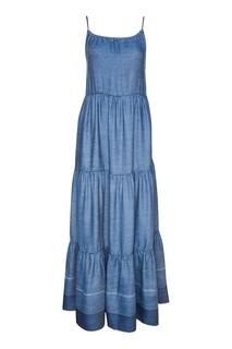 Платье-макси из мягкого денима Paul & Joe Sister