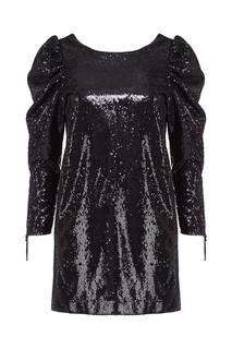 Черное платье с пайетками Nineminutes