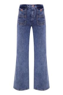 Широкие джинсы с карманами See By Chloé