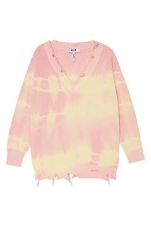 Хлопковый пуловер tie dye Msgm