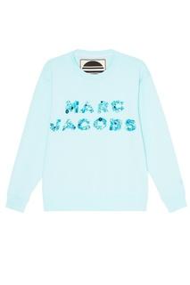 Хлопковый свитшот с пайетками и кристаллами Marc Jacobs
