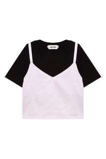 Черная футболка с топом Rocket X Lunch